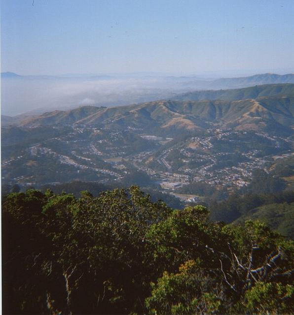 Foggy San Francisco from Montara mountains