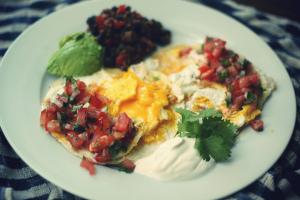 home made huevos rancheros