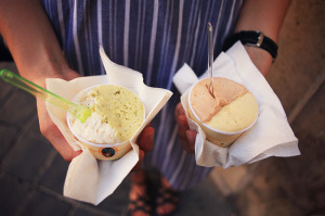 Rzym gdzie zjeść - włoska lodziarnia