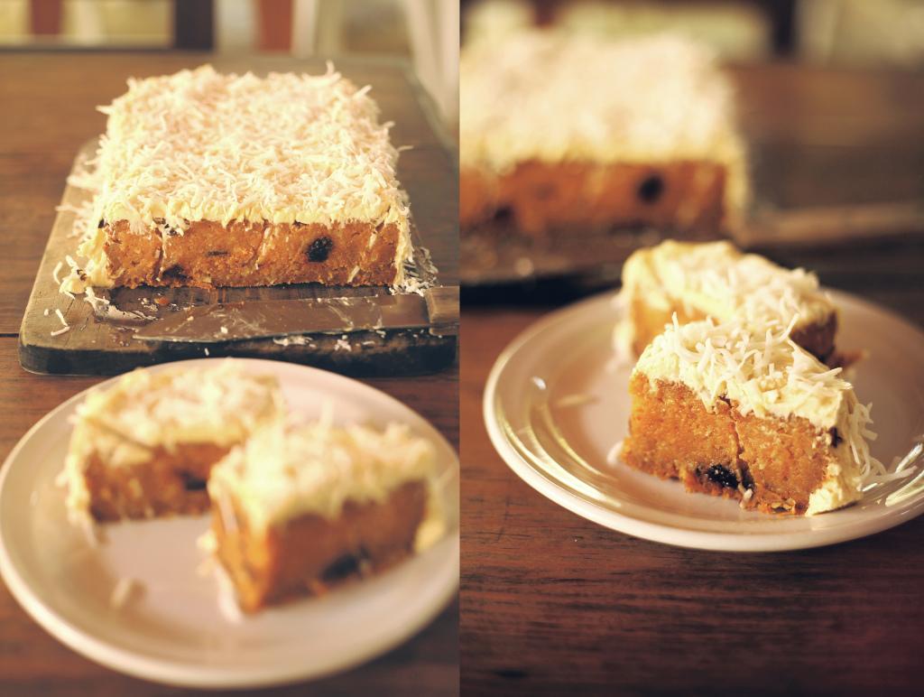 wegańskie ciasto marchewkowe z kokosem