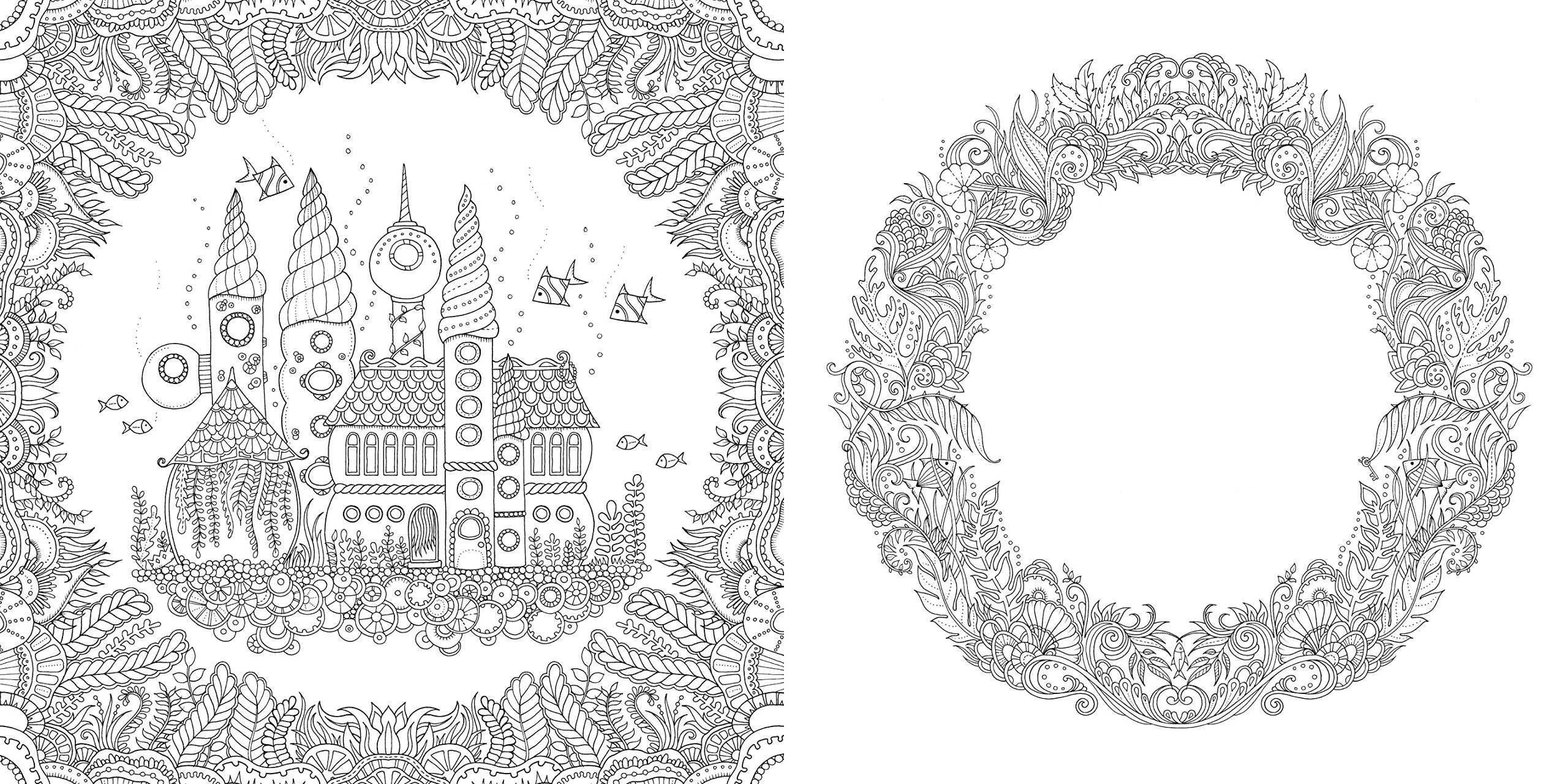 Johanna Basford Lost Ocean An Inky Adventure Adult Colouring Therapy
