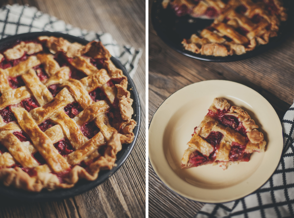 ciasto amerykańskie pie z truskawkami