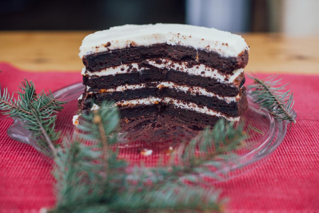 tort czekoladowy z czerwonym winem