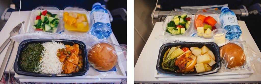 klm jedzenie w samolocie