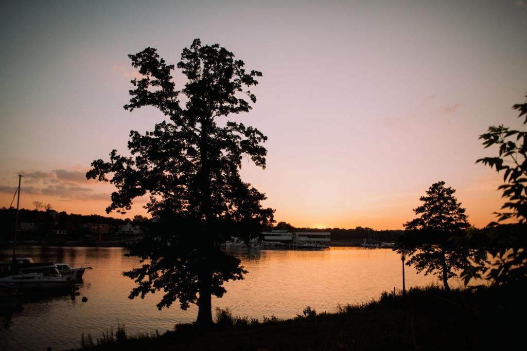 Jeziorak zachód słońca